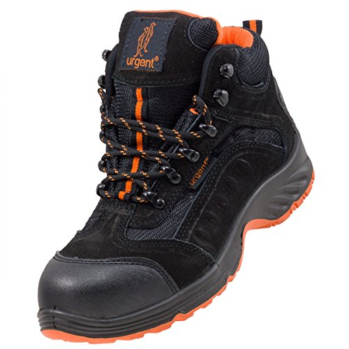 Leightweight Leather Men 's Boot Safety Work Boot with Steel Toe Cap...