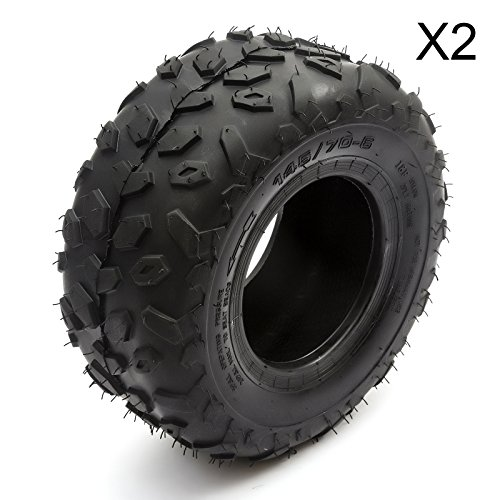 4ab60621567f5 2 Quad Bike Rear Tyres 145 / 70 - 6 Inch Fits Kazuma Meerkats & Chinese