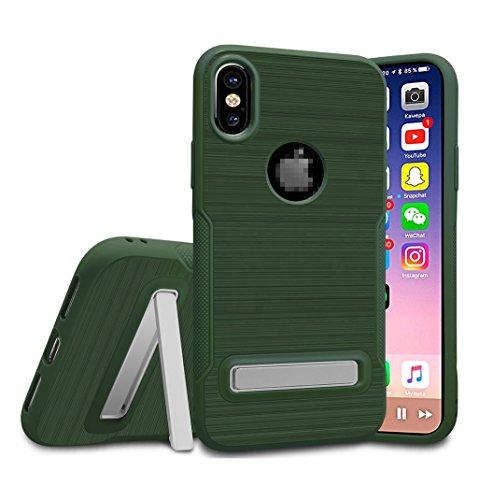 Kadcope Copertura del telefono cellulare per iPhone X, SoftFlex Custodia protettiva sottile per la copertura Apple iPhone X / iPhone X Army Green-B