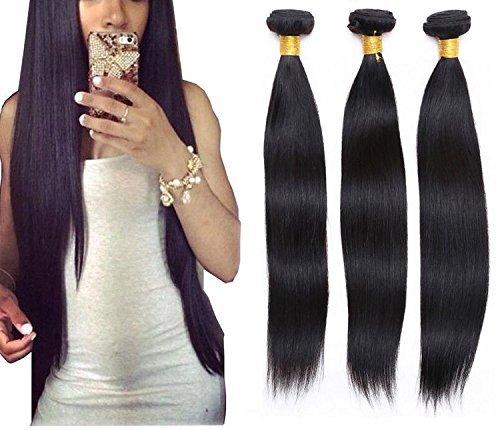 71,1 cm tissage 100% cheveux naturels raides brésilien Vierge Extension Cheveux non traités Lot de 1 Noir