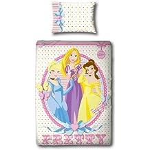 Disney Princess Princess Reversible funda nórdica de 135x200 cm Juego de cama NUEVO diseño 2in1 2012 bastante PINK