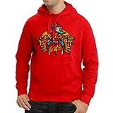 lepni.me Kapuzenpullover der Straßengangster - Hipster, Swag, StraßenSpaß, Lustige Geschenk-Idee (XX-Large Rot Mehrfarben)