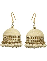 The Indian Handicraft Store Trendy Bollywood Fashion Beads Jhumki Thread Earring For Women And Girls