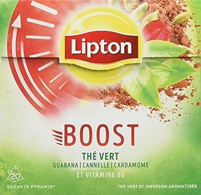 Lipton Thé Vert Boost 20 Sachets 32g - lot de 4