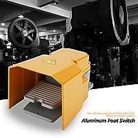 Interruptor de pie extra pesado, 250V 10A Interruptor de encendido/apagado a prueba de aceite resistente a la corrosión resistente al aceite con protector