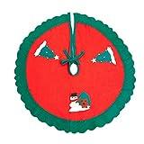 90cm Albero Di Natale Alberi Gonna Pupazzo Di Neve Modello Applique Verde Bordo Ondulato