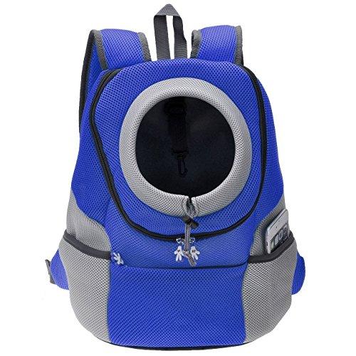 Septven Hohe Qualität Atmungsaktiv Haustier Hund Katze Tasche Rucksack für Hunde Hunderucksack (L,Septven Hohe Qualität Atmungsaktiv Haustier Hund Katze Tasche Rucksack für Hunde Hunderucksack (L, Blau)) (Vuitton Lv Louis Hund)