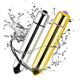 Bullet Vibratoren,Apriller Silikon Vibrator Wasserdicht Kugelvibratoren Mini Massagegerät mit 10 Stimulation Modes für Frauen 2 Stück