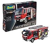 Revell Modellbausatz LKW 1:24 - Feuerwehr MAN TGM / Schlingmann HLF 20 VARUS 4x4 im Maßstab 1:24, Level 4, originalgetreue Nachbildung mit vielen Details, Truck, 07452