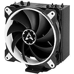 Arctic Freezer 33 eSports One – Dissipatore di processore semi-passivo con ventola Bionix da PWM 120 mm, Dissipatore per CPU fino una potenza di raffreddamento di 320 Watt (Bianco)