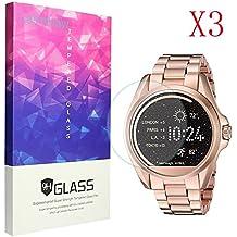 Michael Kors Smartwatch Protector Pantalla, Lamshaw 9H Dureza Cristal Templado para Michael Kors MKT5001 Smartwatch