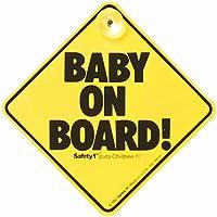 Il Baby on Board Safety 1st è un avviso a sfondo giallo da applicare sul lunotto posteriore di ogni vettura. Si installa facilmente con la ventosa.