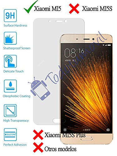 Protector de Pantalla Cristal Templado Vidrio 9H Premium para Xiaomi M5 MI5...