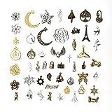 OBSEDE Mixed Charms Anhänger Craft Supplies Kleine antike Charms Anhänger zum Crafting, Schmuckzubehör fünf-Farben 1