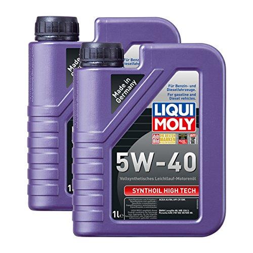 Preisvergleich Produktbild 2x LIQUI MOLY 1306 Synthoil High Tech 5W-40 Motoröl Vollsynthetisch 1L