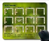 2019 Kalender-Mauspad benutzerdefiniert, Kalenderjahr Gaming-Mauspad, Kalenderplaner 2019 mit Feiertagsdetails