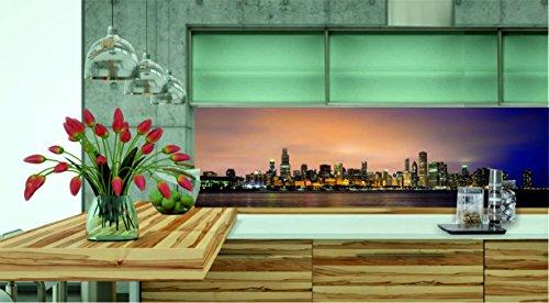 KÜCHENRÜCKWAND 220x60cm Folie selbstklebend City Skyline KFS54