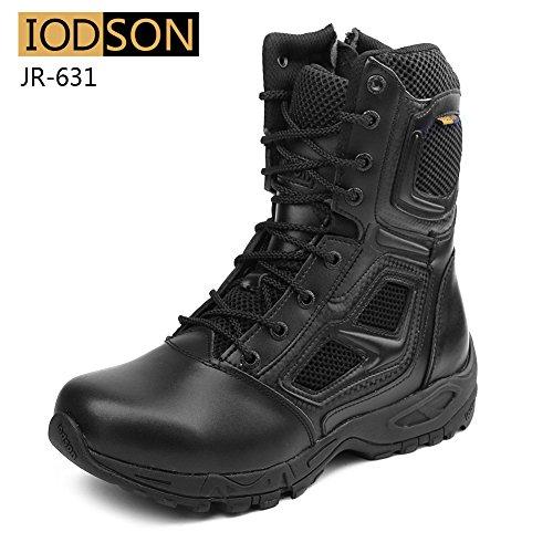 IODSON Zapatos de Hombre Botas/Botas de Combate/Botas Tácticas Ultra-Ligero Antideslizante...