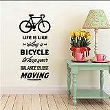 Chellonm Das Leben Ist Der Weg Zum Fahrrad Fahrrad Zitat Fahrrad Wand Aufkleber Diy Radfahren Worte Vinyl Motorrad Wand Kunst Aufkleber Aufkleber Wohnkultur 58 * 112Cm
