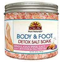 Okay Himalayan Pink Salt Foot Soak With Lavender & Tea Tree Oil Soothing - Refreshing For All Skin Types Sulfate, Silicone & Paraben Free 20 Ounce, 20 Ounce