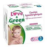 Love & Green Couches Hypoallergéniques Innovation Taille 5 (11-25Kg) x40 (lot de 2 soit 80 couches)