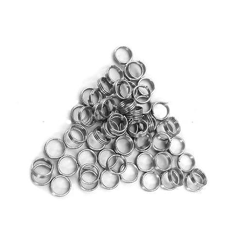 The darts hut Lot de 30 Anneaux ressorts métalliques argentés pour fléchettes (10sets)