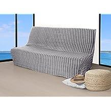 Soleil docre Funda de sofá-Cama Jacquard 190 cm de Ancho COTONADE Gris