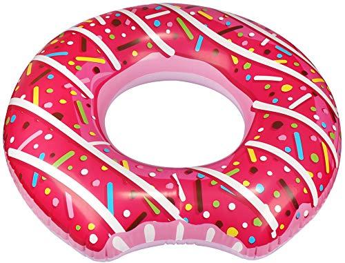 com-four® Aufblasbarer Schwimmreifen im angesagten Donut Design - Schwimmring für Kinder und Erwachsene [Auswahl variiert] (1 Stück - Donut)