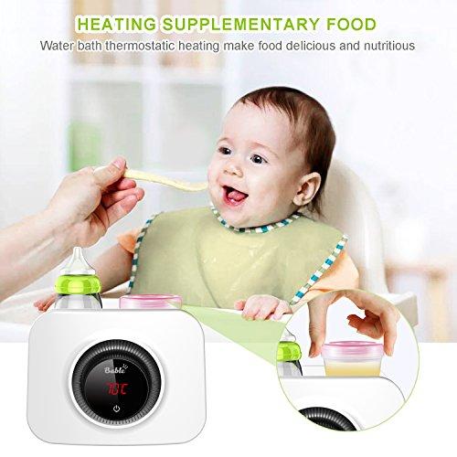 Bable Flaschenwärmer丨Sterilisator für Babyflaschen丨Babykostwärmer丨Multifunktionale Baby Flaschenwärmer mit Ernährungsschutz-Technologie and LCD Bildschirm - 6
