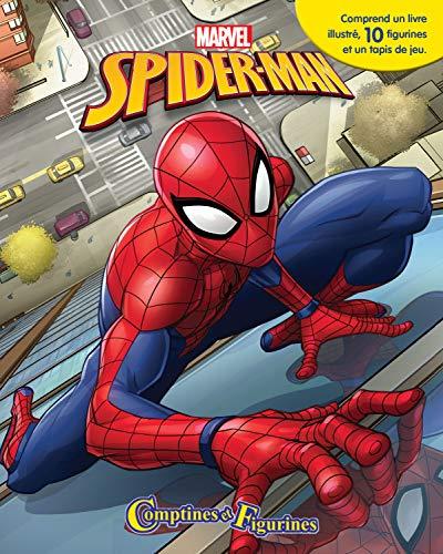 Spider-man Comptines Et Figurines - Coffret Livre Avec 12...