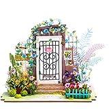 ROBOTIME Puppenhaus Gartenmöbel - DIY Modellbau Miniaturbau - Holzhandwerk für Kinder 14 Jahre alt - 3D Puzzle für Erwachsene - Kreatives Geschenk für Mädchen (Garten Eingang)