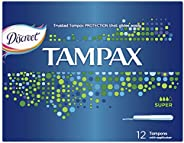 Tampax Super Tampons with Applicator 12 count