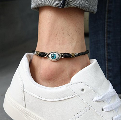 Speedmar UK Umweltfreundliches Material Fußkettchen Männer Armband Fußkettchen Augenmuster Fußseil Retro Mode Einstellbare Fußkette