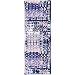 Antideslizante (183x66 cm), 100% microfibra, absorbe el sudor, bolsa de transporte; mejor elección para practicar yoga, bikram