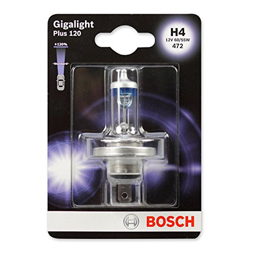 BOSCH Glühlampe Gigalight Plus 120 Xenongas H4, 12V, 60/55W, P43t, Anzahl 1