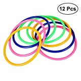 #7: STOBOK 12pcs Kids Toss Rings Plastic Ring Toss Game for Speed and Agility Training Garden Outdoor Games (Random Color)