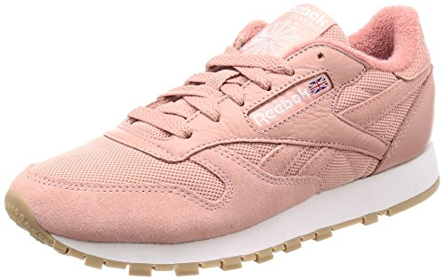 Reebok Classic Leather Hardware, Zapatillas para Mujer, Rosa (Pale Pink/White/Rose Gold), 36 EU