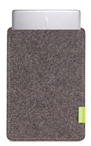 WildTech Sleeve für Acer Chromebook 14 (CB3-431-C6UD) Hülle Tasche aus echtem Wollfilz - 17 Farben (Handmade in Germany) - Grau