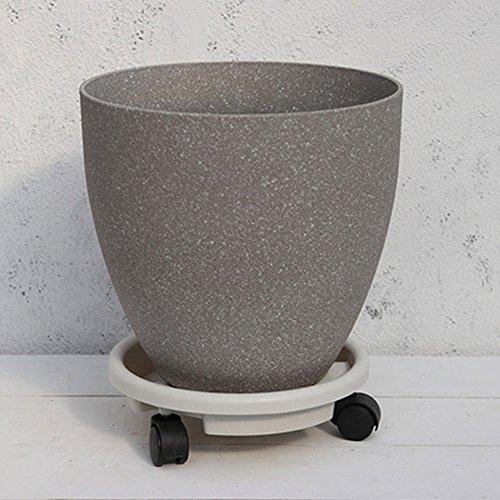 T-FBW Blumenbank Plant Playhouse - Fashion Vase - Dicke Matt Matt Schneeflocke Marmor Muster Barrel Blumentopf Elegante Aprikose Zement Ash (Farbe : Grau, größe : A2-Xs) (Asche Bücherregal)