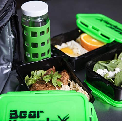 Ampia Borsa per la preparazione dei pasti isolata per il pranzo 6 tasche e 3 controlli delle porzioni nel cestino del pranzo