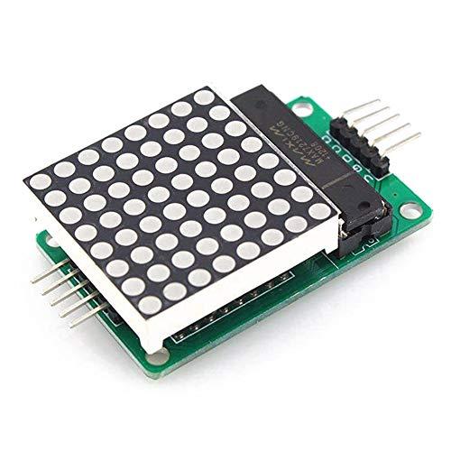 lujiaoshout Professionnel MAX7219 Dot Matrix Module d'affichage LED de contrôle Unique Chip Module DIY Kit pour Arduino avec 5pin Ligne
