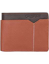 Creature Stylish Tan Wallet For Men/Boys With 6 Card Slots (Colour-Tan||WL-020)