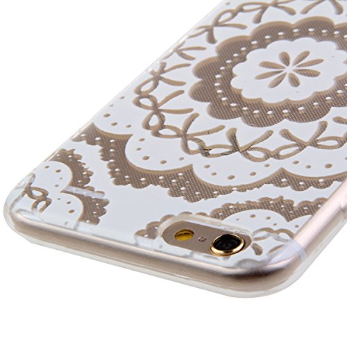 iPhone 6S Hülle, iPhone 6 Hülle, iPhone 6 / 6S Silikon Crystal Case Hülle mit Malerei Muster, SainCat Weiche Transparent Silikon Schutzhülle Hülle Gel Bumper Soft TPU Case Backcase Weiches Crystal Cle Sonnenblume