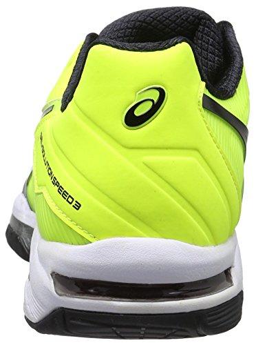 Homme Bianco sicurezza Nero De Chaussures soluzione Giallo Velocità Gel Tennis Di 3 Giallo Asics SfO8ZqZ