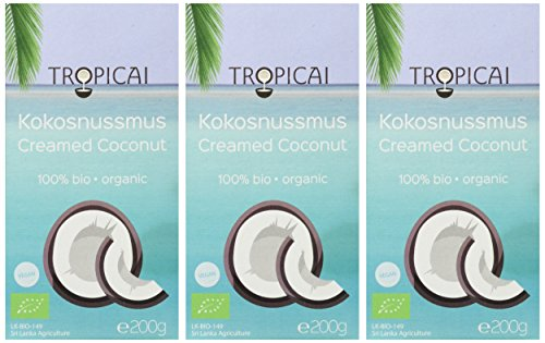 Tropicai - Feines Bio-Kokosmus - Sri Lanka - 600 g (3 x 200 g) - 2