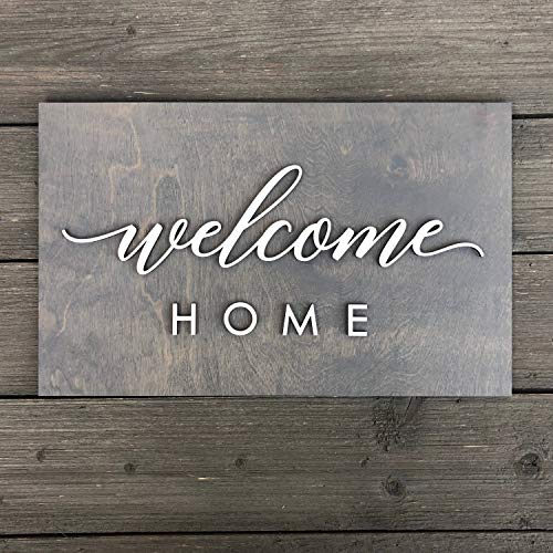 schild 38,1 x 22,9 cm, Büro Welcome Entry Way Schlamm Room Baby Room Home Wall Decor Hi-Gruß Dekoration Wall Art ()