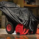 210D Polysterfasern Schneefräse Abdeckung Abdeckplane Wasserdicht Snow Thrower Cover Garage Staubdicht Wetterfest Schutzhülle Abdeckhaube 47x31x24x37 inch mit Tragetasche (Schwarz) - 7