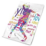 Headwear Headband Head Scarf Wrap Sweatband,Stylish Woman Figure Silhouette With Colorful Stains Love Dresses Happiness Theme,Sport Headscarves For Men Women