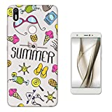c01215 - Summer Bikini Sunglasses Flip Flops Ice cream Sun Beach Collage Design BQ Aquaris X / X PRO 5.2