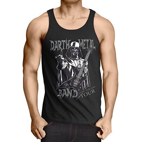 style3 Darth Metal Band Tank Top Uomo canotta canottiera, Dimensione:2XL;Colore:Nero